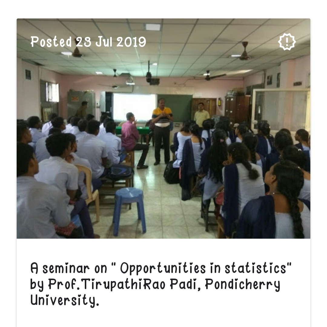 seminar on opportunities on statistics