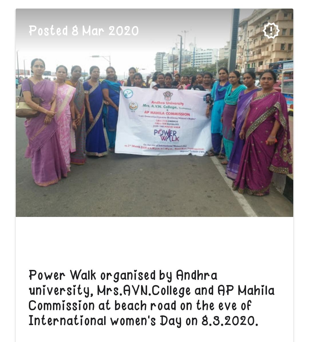 Power walk by women's cell